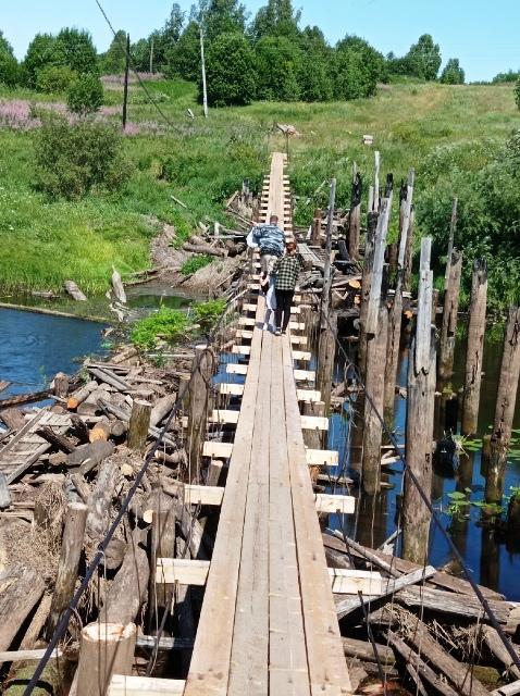 Построен переход через реку